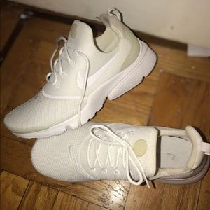 All white Nike presto